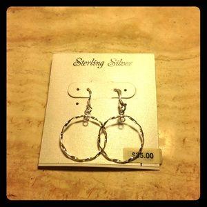 Sterling Silver Small Hoop Dangling Earrings New
